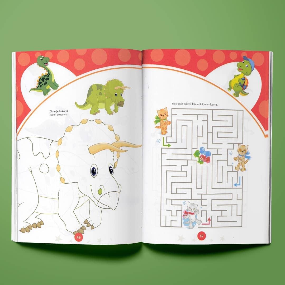 Çocuk Gezegeni Aktiviteli Boyama Kitabı Seti İç Sayfa 1