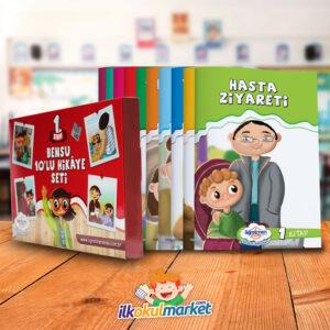 Öğretmen Evde 1. Sınıf Bensu 10'lu Hikaye Kitapları Seti