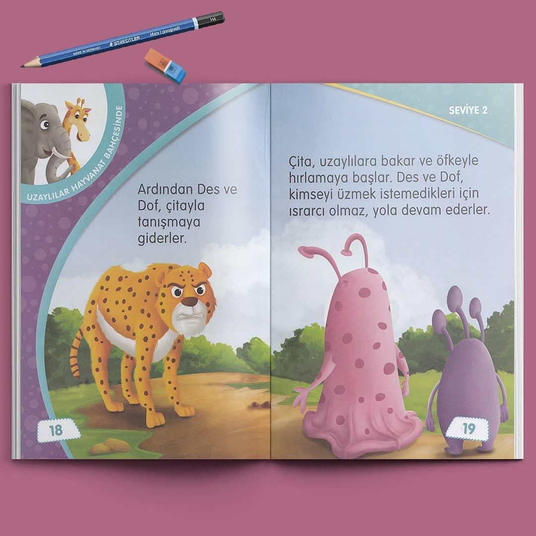 Çocuk Gezegeni Okuma Seti - Seviye 2 - İç Sayfa
