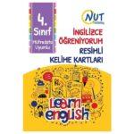 Nut Publishing 4. Sınıf İngilizce Öğreniyorum Resimli Kelime Kartları